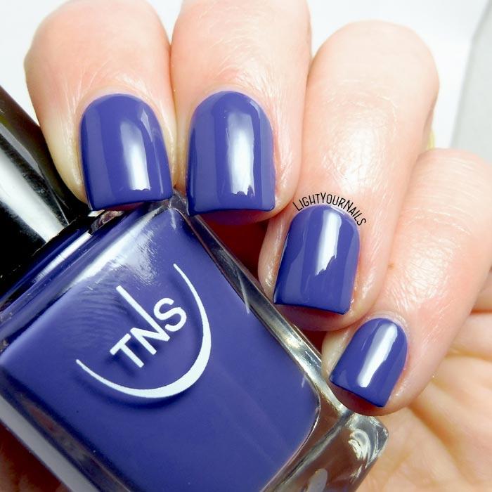 Smalto blu TNS 535 Capri (Bon Ton 2018) blue nail polish