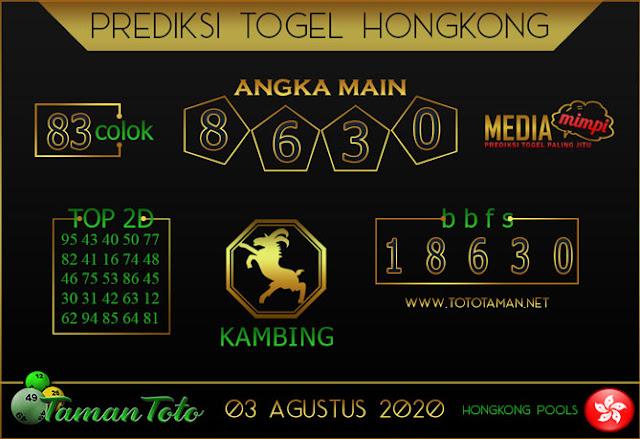 Prediksi Togel HONGKONG TAMAN TOTO 03 AGUSTUS 2020