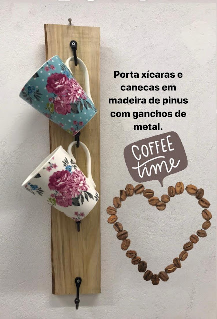 Porta Xicaras Madeira