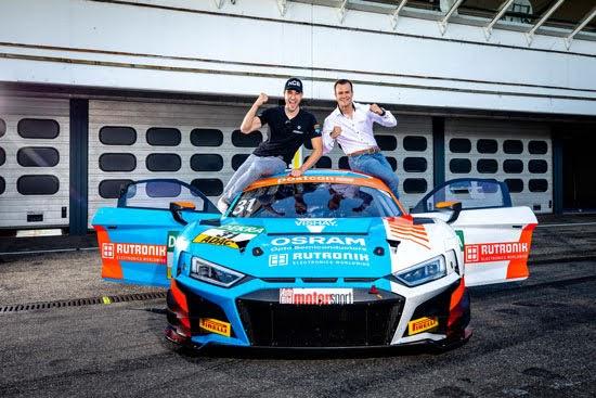 Kelvin van der Linde und Patric Niederhauser - das sind die neuen Champions des ADAC GT Masters