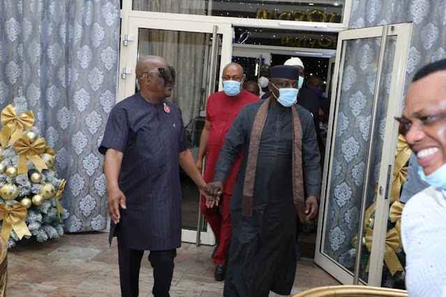 'Imo Must Be Better' Sen. Rochas And Gov. Wike Spotted Singing At The Brick House