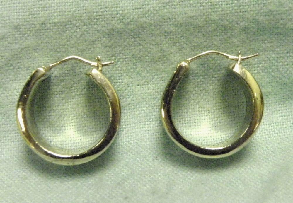 f515031d0 TIFFANY & CO. 925 STERLING SILVER 1837 T & CO. HOOP EARRINGS WIDE 3/8