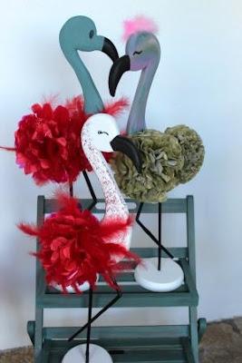 escaparatismo - flamencos en porexpan