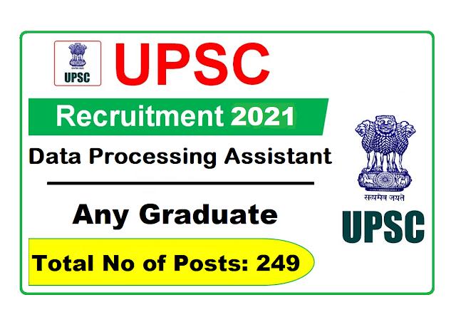 UPSC Recruitment 2021 for 249 Specialists Grade III & Other Vacancies, Apply Online @ www.upsc.gov.in