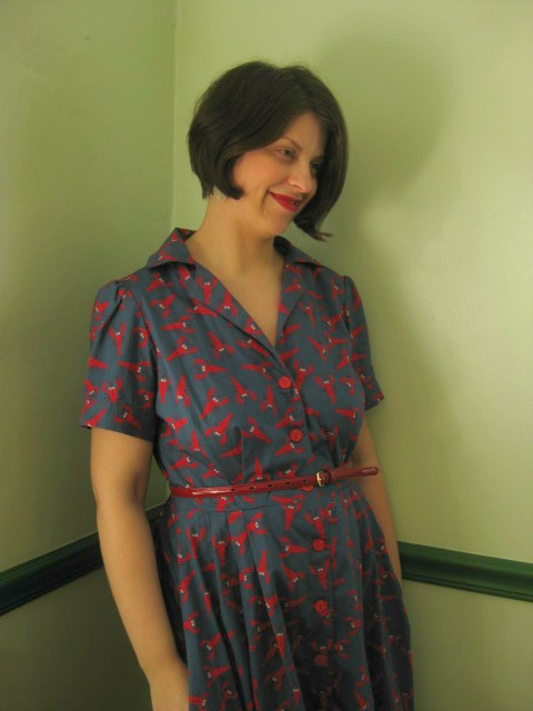 Beautiful Handmade By Heather B: Getting Gertie With It - The Shirtwaist Dress RR17