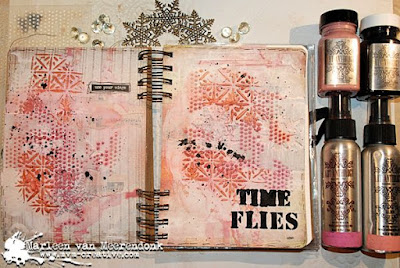 Time Flies, Art Journal pages.