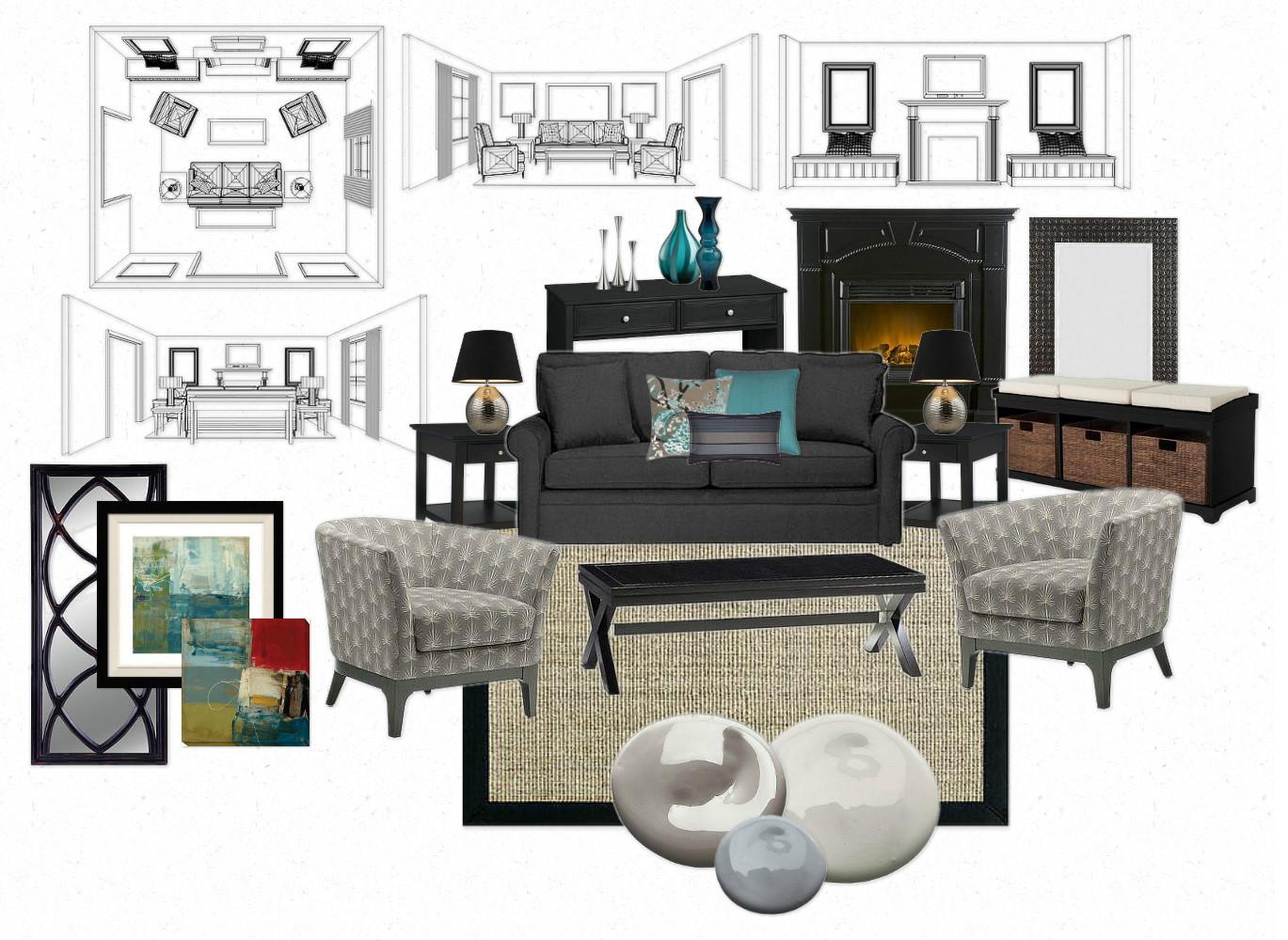 Interior design idea board stunning presentation board for Interior design board software