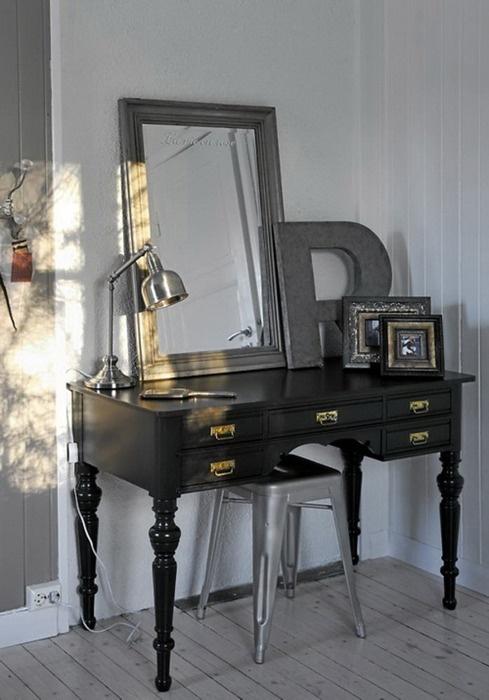id es de d coration de la coiffeuse de votre chambre d cor de maison d coration chambre. Black Bedroom Furniture Sets. Home Design Ideas