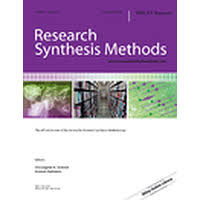 Research Synthesis Methods Journal cover