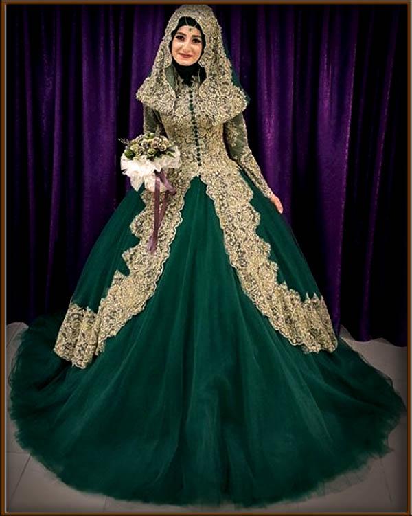 Tips memilih gaun pengantin muslimah