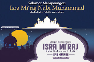 Banner Spanduk Peringatan Isra Mi'raj 1441 Hijriyah