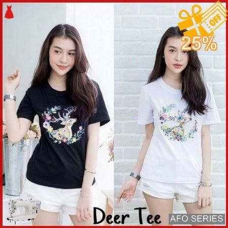 AFO376 Model Fashion Deer Tee Modis Murah BMGShop