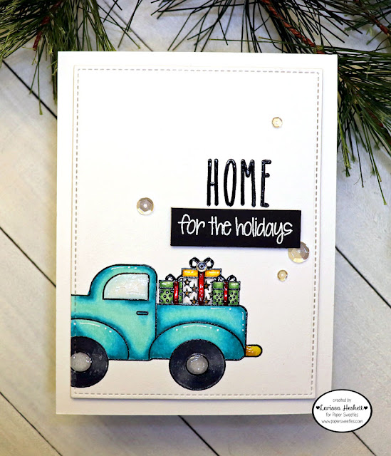 Home for the Holidays by Larissa Heskett for Paper Sweeties using Merry Christmas Ya'll, Truck Add On: Occasions and Blessed #papersweeties #blessed #homefortheholidays