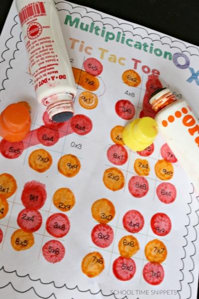 multiplication game printable makes math fun