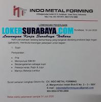 Loker Surabaya di CV. Indo Metal Forming Juli 2020