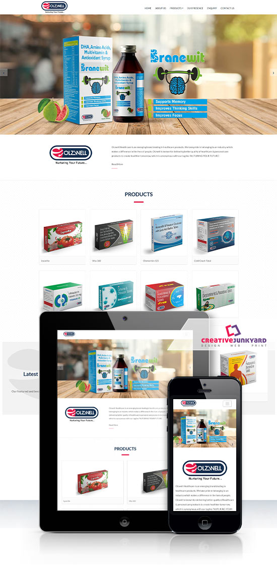 Pharma web design