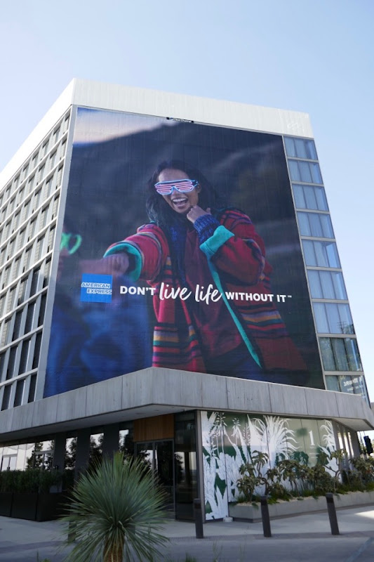 American Express Don't Live Life Without It billboard