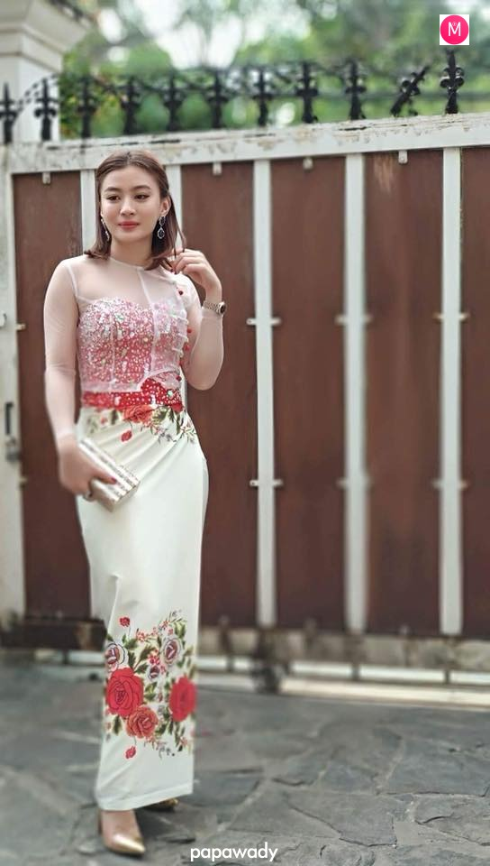 Wut Mhone Shwe Yi Fashion Outfit To Attend Wedding