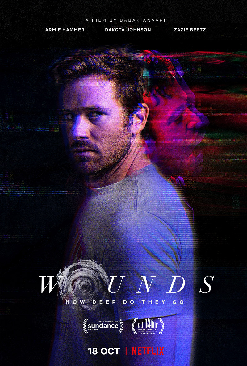wounds dakota johnson armie hammer netflix poster