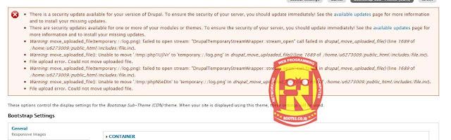 errror move uploaded drupal 7 cannot update module