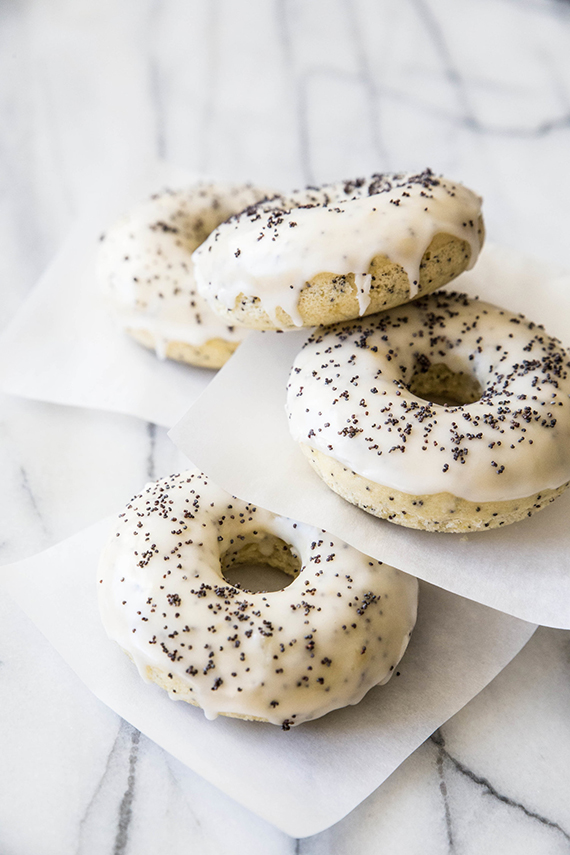 Baked lemon poppy seed doughnuts recipe by Pastry Affair