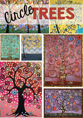 Craft about trees! Take a look at all the swirly trees! Can you decide what to create using these as inspiration?