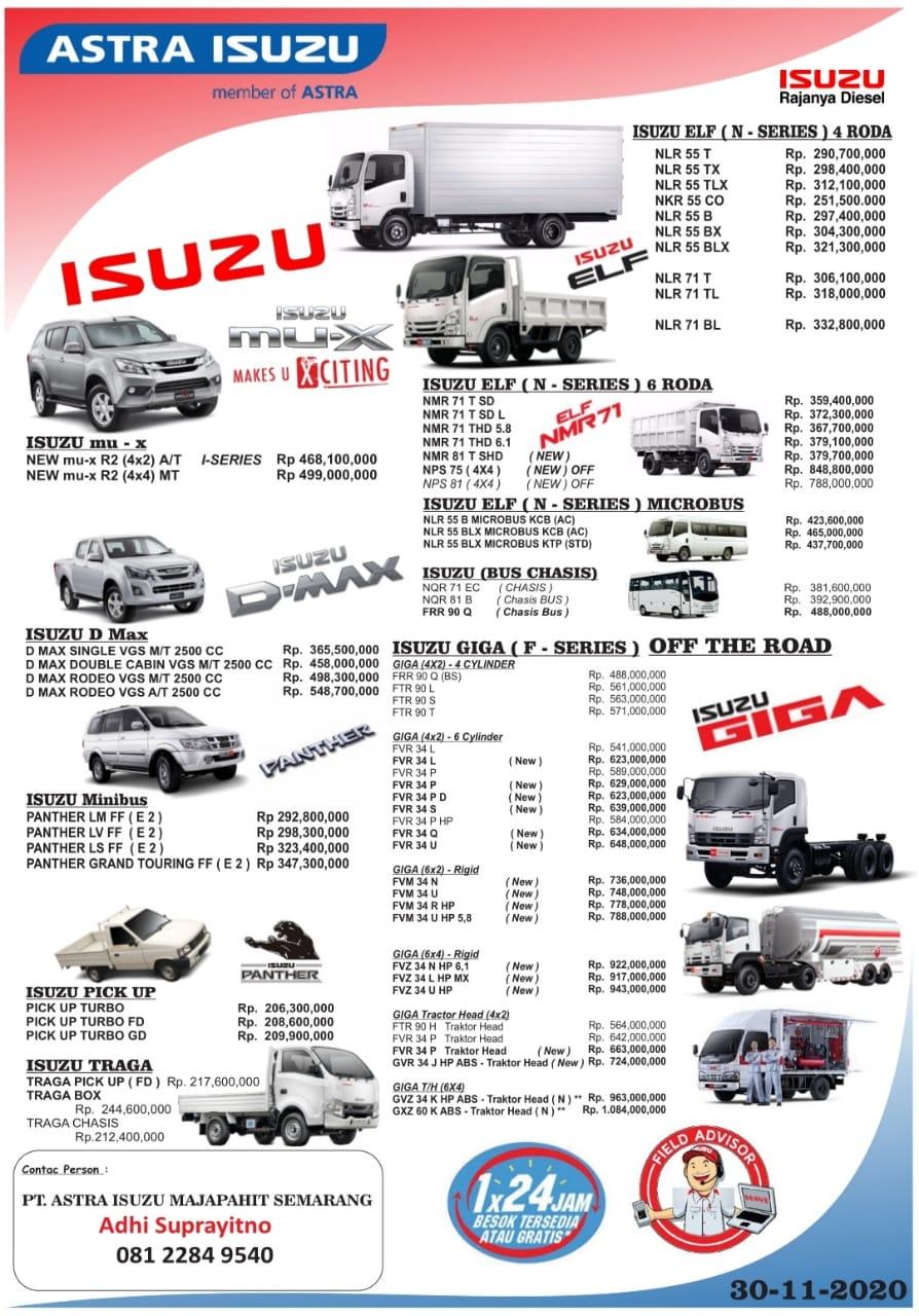 Dealer Isuzu Semarang Daftar Harga Otr Cash Dan Kredit Mobil Baru