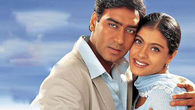 An Old Photo of Kajol and Ajay Devgan