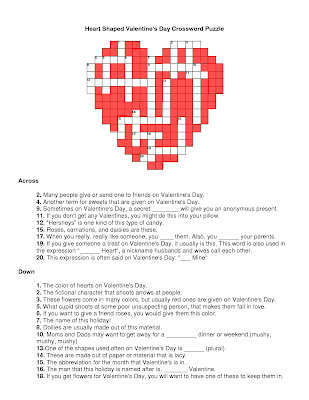 Valentines Crossword 1