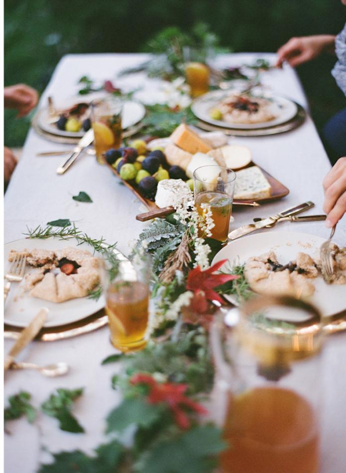 comida tipo buffet al aire libre