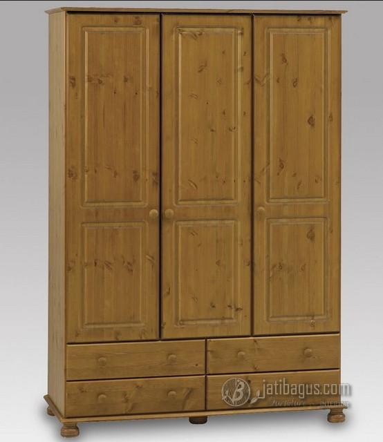 Ukuran Lemari Pakaian Minimalis Pintu 3