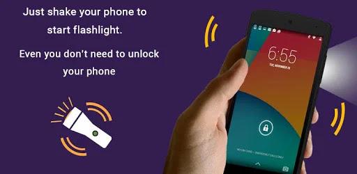 تحميل تطبيق Shake Flashlight Free – Turn ONOFF Flashlight APK