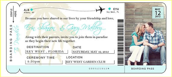Plane Ticket Invitation Template – Airline Ticket Template Word