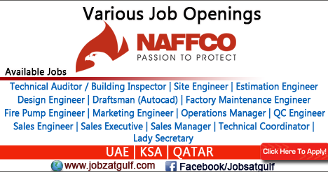 Various Job Openings at NAFFCO - UAE   KSA   QATAR - Jobzatgulf com