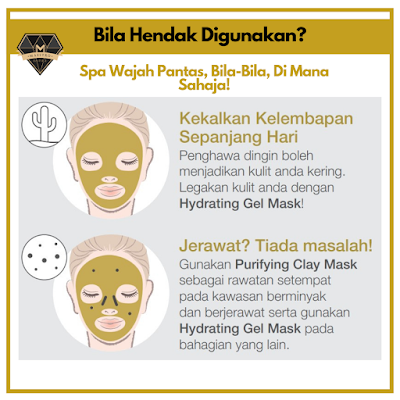 cara penggunaan youth hydrating gel mask
