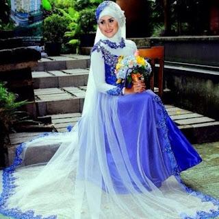 Busana pengantin muslim elegan