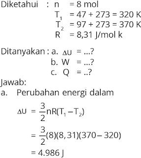 Pembahasan soal fisika bab termodinamika nomor 1