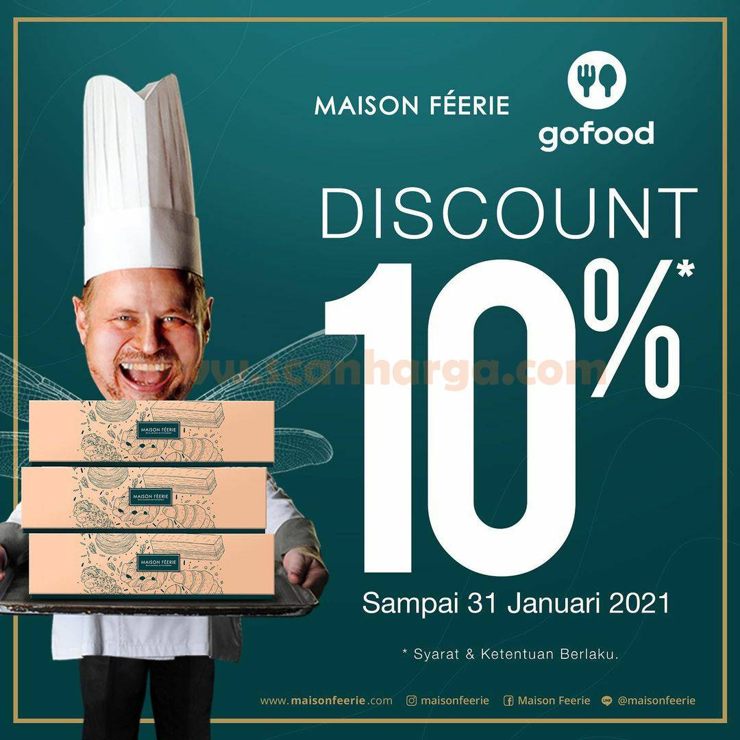 Maison Feerie Promo Diskon 10% khusus pemesanan via Gofood
