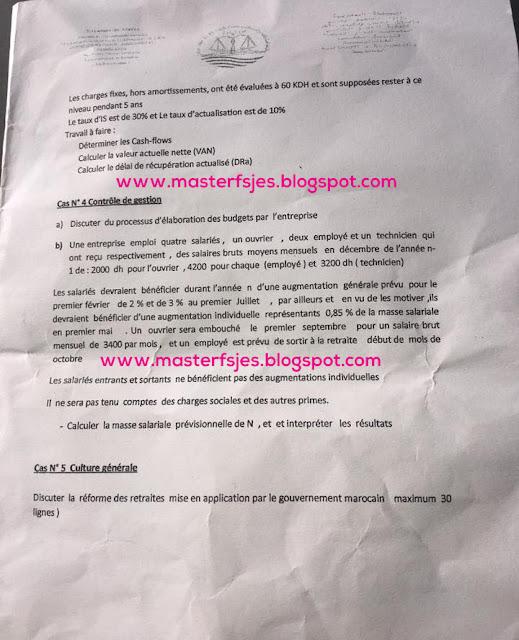 Master Audit et Contrôle de Gestion 2016-2017