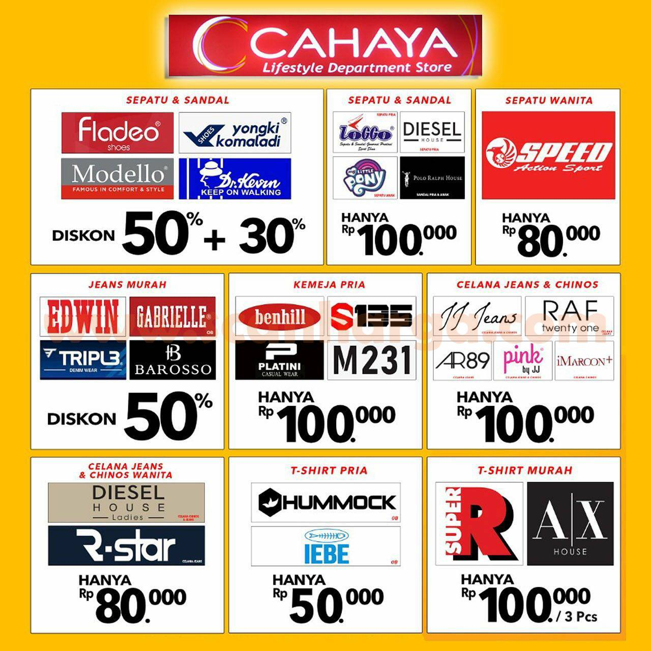 Promo Cahaya Department Store Super Sale up to 70%