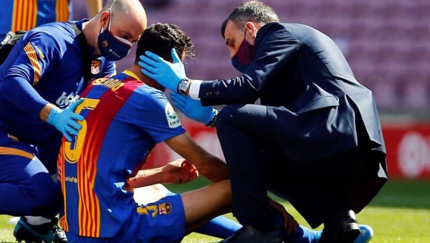 برشلونة يعلن حجم إصابة لاعبه بوسكيتس.. وموقفه من المباريات القادمة