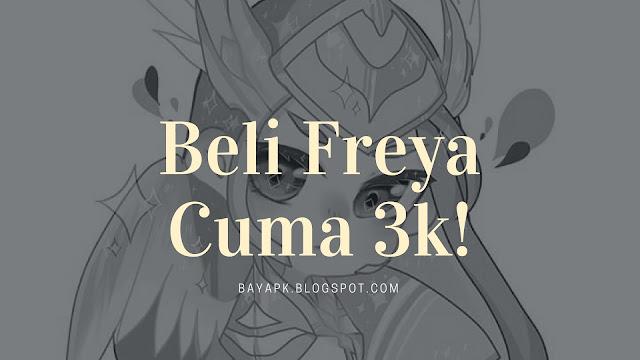 Membeli Freya dengan pulsa