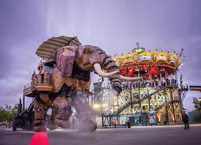 Elefante Gigante da Iles de Machine em Nantes