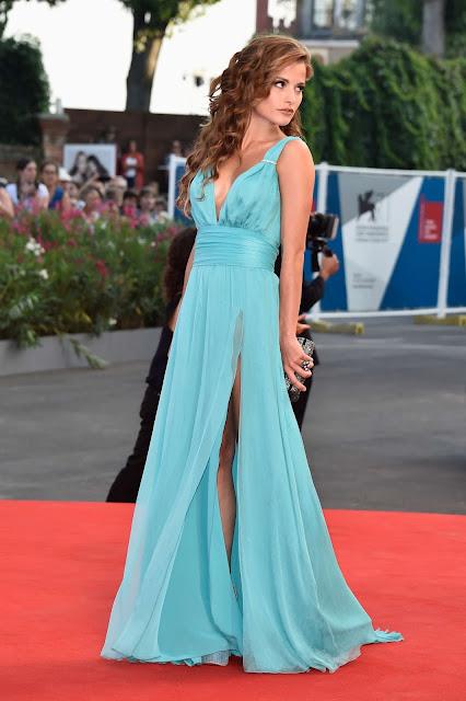 Steal celebs' style: Giulia Elettra Gorietti's azure chiffon dress