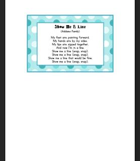 Line Up Songs & Chants {Freebie}