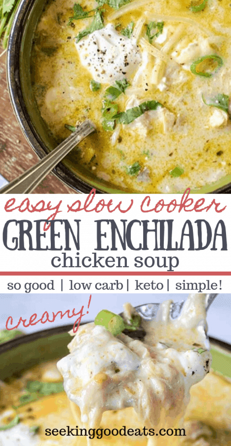 THE BEST GREEN ENCHILADAS CHICKEN SOUP (KETO MEXICAN CHICKEN SOUP)