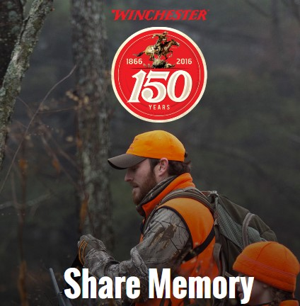 Winchester Rifles is celebrating their 150th Anniversary by offering you a chance to share your favorite hunting and outdoor memories for a chance to win great prizes!