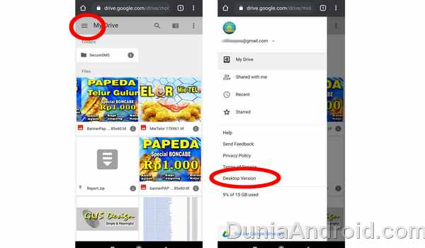Desktop mode di chrome android