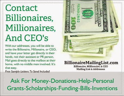 Billionaire Mailing List is the only place on the internet to get these exclusive addresses.