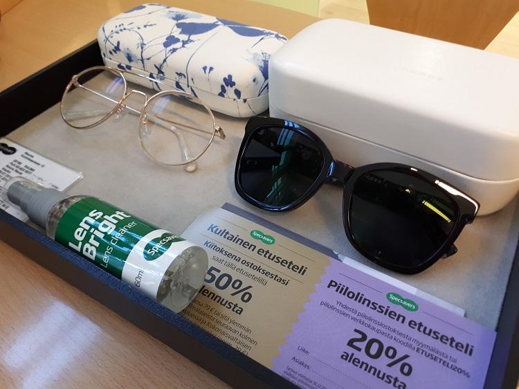 Specsavers, silmälasit, aurinkolasit